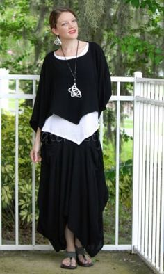 Love it? Double-click to see/shop our huge cotton gauze collection! OH-MY-GAUZE-Cotton-Artsy-ROBIN-SKIRT-Long-Balloon-1-S-M-L-2-XL-1X-2X-BLACK Grace Top, Vanna Top #tunic #skirt #boho #layered #lagenlook