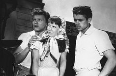 "James Dean, Julie Harris, and Richard Davalos in ""East of Eden."" 1955 Warner / MPTV"