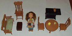 "Vintage 1970's Knickerbocker 6"" Holly Hobbie Doll House Furniture | eBay"