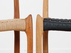 chaise 78 de niels O. Moller, chene et corde de papier tressé noir. design danois design scandinave neuf