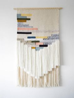 Woven Wall Hanging Wall Art Weaving Tissage Tapestry