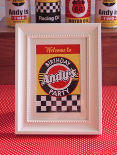 Race Cars Birthday Party Ideas | Photo 1 of 32 | Catch My Party