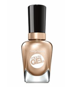 Sally Hansen Miracle Gel in Game of Chromes: No base coat, UV lamps, or soaking required: Simply paint on two coats of the color (a metallic shade that flatters a range of skin tones) and lock it in with the Miracle Gel Top Coat for extra luster.