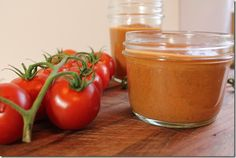 Roasted Tomato and Garlic Sauce - http://www.fromthelittleyellowkitchen.com