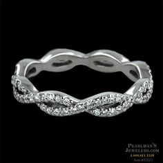 Infinity Band. Gorgeous. Prefect wedding band to go with a solitaire engagement ring!!! I love it
