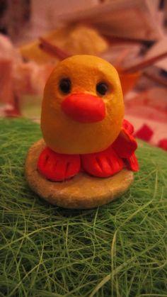 air dry clay (little duck)