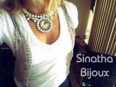 Maxi colar branco. #handmade #craft #bijuterias #biju