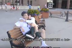 #94 #namjoon #hoseok when U don't want to share Ur best friend, BTS NOW III