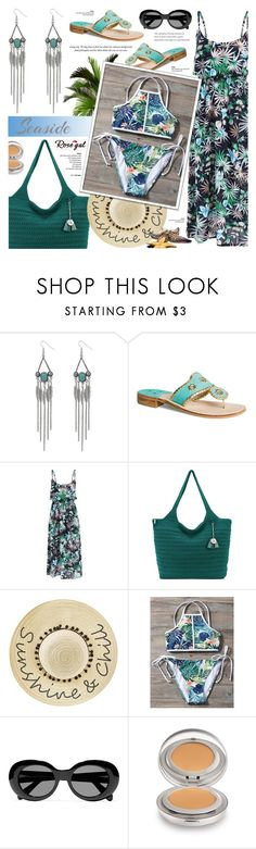 """""""Rosegal 71"""" by anyasdesigns ❤ liked on Polyvore featuring Jack Rogers, The Sak, Betsey Johnson, Acne Studios and Laura Mercier"""