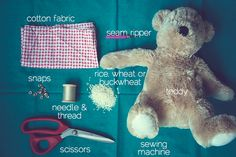 The Perfect Pear: DIY // Teddy Bear Heat Pad    My nieces would love this - maybe a christmas present :)