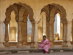 Amber Fort and Sisodia Gardens India