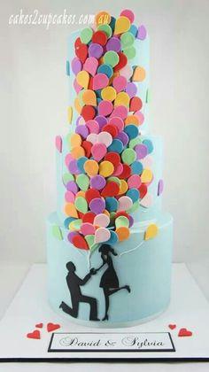 Ballons Wedding Cake