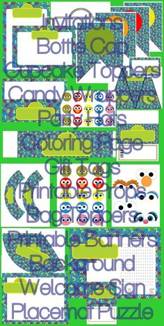 Sesame Street Inspired Complete Printable Party Kit Street Party - $15.99 : ScrapPNG, Digital Craft Graphics