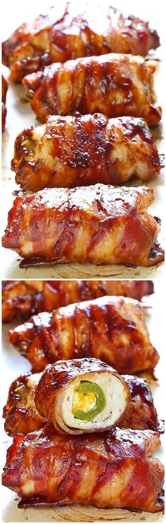 Bacon BBQ Chicken Bombs | Tasty Food Collection