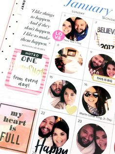 snapshot-a-day on the monthly pages of the BIG Happy Planner® — me & my BIG ideas