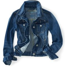 Indigo Denim Jacket ($20) ❤ liked on Polyvore featuring outerwear, jackets, tops, coats, denim, girls, jean jacket, slim fit jean jacket, cropped jean jacket and pocket jacket