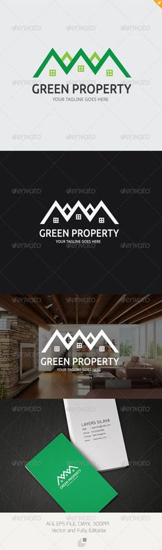 Green Property Logo — AI Illustrator #build #building • Available here → https://graphicriver.net/item/green-property-logo/3320881?ref=pxcr