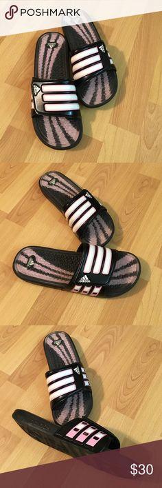 Sandals Adidas velcro sport slides.  Worn once.  Pristine condition.  No wear on bottom. Adidas Shoes Sandals