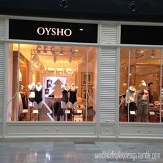 Window display design — Oysho Xmas AW 2014-2015