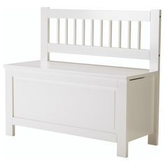 HEMNES Storage bench - IKEA x2 at right angles = small banquette, esp. w/ Lack table in corner between
