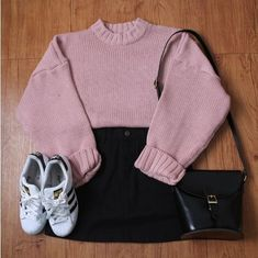 Korean fashion that are trendy Idées Tendance Hivernale Tendance Ados ? Korean Fashion Trends, Korean Street Fashion, Korea Fashion, Asian Fashion, Cute Casual Outfits, Outfits For Teens, Stylish Outfits, Fall Outfits, Rock Outfits