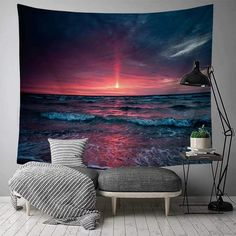 Discover the best beach themed tapestries and coastal wall tapestries. We love beach wall decor and tapestries are affordable and beautiful, which makes them a great option. Living Room Bedroom, Living Room Decor, Child's Room, Ocean Artwork, Tropical Home Decor, Hanging Flower Wall, Beach Wall Decor, Beach Themes, Wall Prints