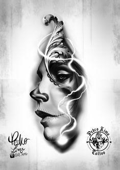 Wolf Tattoo Sleeve, Chest Tattoo, Sleeve Tattoos, Chicano Tattoos, Body Art Tattoos, Girl Tattoos, Tatoos, Tattoo Sketches, Tattoo Drawings
