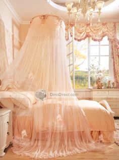 Little princess room Dream Bedroom, Girls Bedroom, Bedroom Decor, Pretty Bedroom, My New Room, My Room, Peach Bedding, Peach Bedroom, Living Colors