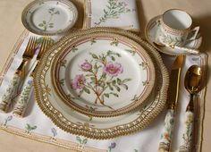 Table setting - Flora Danica from Royal Copenhagen, Denmark.