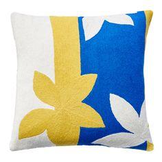 Sunset Yellow/Cream/Marine Pillow