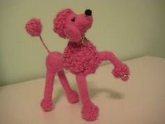 Needle Felted Snooty Poodle  Now THIS is fabulous!  I want one!!