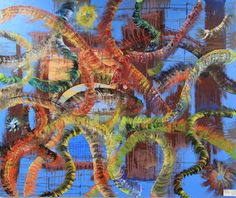 "Saatchi Online Artist mark toner; Painting, ""carp in the pond "" #art"