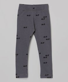 Another great find on #zulily! Gray 'Me' Leggings - Infant, Toddler & Girls by OmamiMini #zulilyfinds