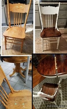 End table furniture makeover idea! Give your drab boring end tables a facelift with this gorgeous DIY furniture makeover and restoration idea that uses Heirloom Traditions Paint and Antiquing Gel!