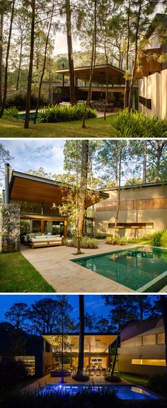 The design and layout of this home creates a sense of privacy, with the adult trees providing shade for the swimming pool and covered patio.