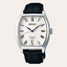 Why buy this authentic SEIKO Presage from us? Seiko Presage, Mens Watches Leather, Watches For Men, Android Watch, Seiko Automatic, Seiko Watches, Mechanical Watch, Stainless Steel Case, Black Leather