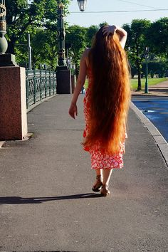 very long hair girl