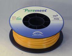 Antibacterial 3D printing filament, Purement, in Orange www.cleanstrands.com