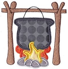 Camping Applique 2, SWAK Pack - 2 Sizes! | Camping | Machine Embroidery Designs…