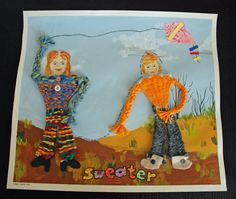 Here is a woven person project that I've been working on. The weaving is not that difficult so I could easily do this with Grade 2 and up ...
