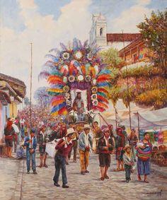 Autor. Jorge Mazariegos Rodríguez // Guatemala // Chichicastenango // Óleo/tela.