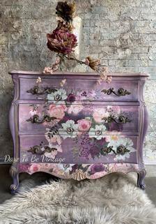 Purple Furniture, Funky Painted Furniture, Bohemian Furniture, Decoupage Furniture, Chalk Paint Furniture, Refurbished Furniture, Upcycled Furniture, Furniture Makeover, Vintage Furniture
