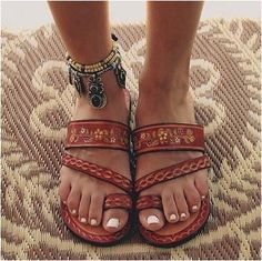 0bf029271dcd4 Leather Hand Painted Mexican Sandals FREE SHIPPING