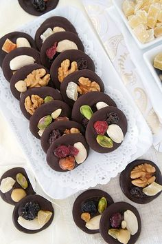 Mendiants - Chocolate and dried fruit mendiants