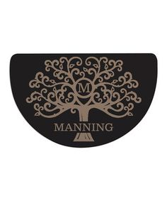 Welcome Tree Personalized Half-Round Doormat