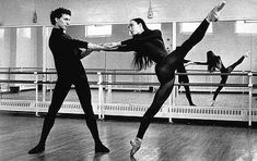 Sylvie Guillem and Laurent Hilare in the roles they created for William Forsythe's In The Middle Somewhat Elevated.