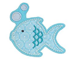 patch FISH applique  Embroidered iron on patch on by NaehNu, €5.50
