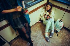 Publication: Heroine Magazine Spring Summer 2015 Model: Emmy Rappe, Lina Berg Photographer: Sebastian Kim Fashion Editor: Gro Curtis Hair: Bok Hee