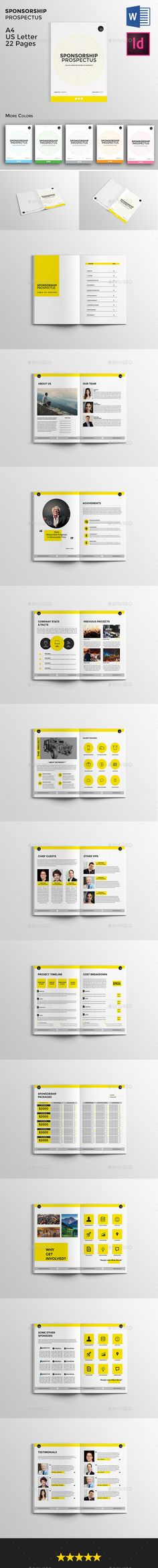 Sponsorship Prospectus Template #design Download: http://graphicriver.net/item/sponsorship-prospectus/12200118?ref=ksioks