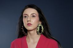 """Maria Leao Torres - """"Glória"""" earrings from the """"As Marias"""" collection. Enamel on copper."""